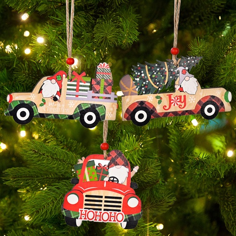 Christmas Car Wooden Pendant Wholesale Nihaojewelry NHHB410074's discount tags