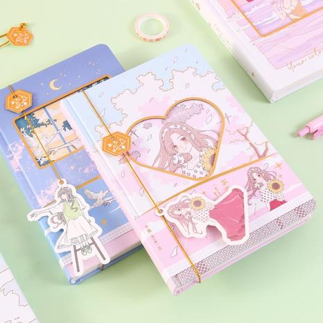 Großhandel Cartoon Figur Muster Kreative Farbseite Notizbuch nihaojewelry NHDW410138's discount tags