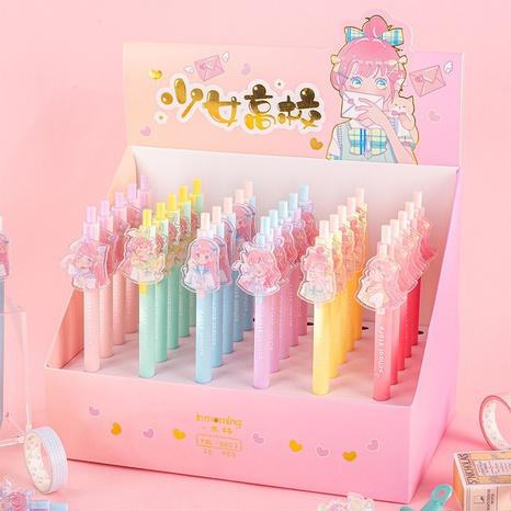 cartoon girl press gel pen wholesale Nihaojewelry  NHDW410140's discount tags