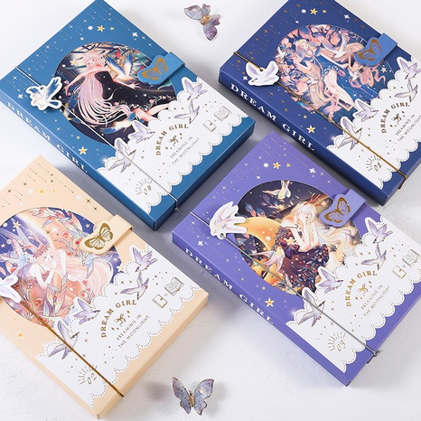 Großhandel cartoon figur muster farbe seite magnetische schnalle notizbuch nihaojewelry NHDW410142's discount tags