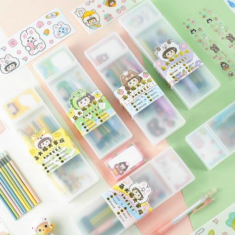 Kreative Art und Weisekarikatur-Gelstift-Klebenotizbriefpapierkasten stellte Großverkauf nihaojewelry ein NHDW410146's discount tags