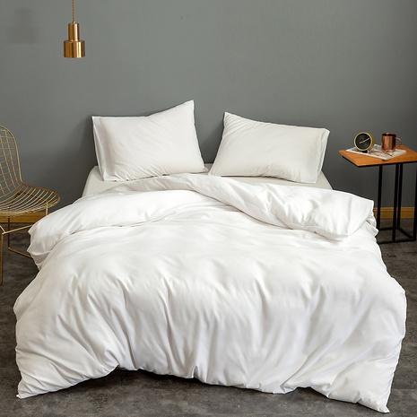 Großhandel einfarbig gebürstete Bettbezug Bettwäsche Set nihaojewelry NHBOM410222's discount tags