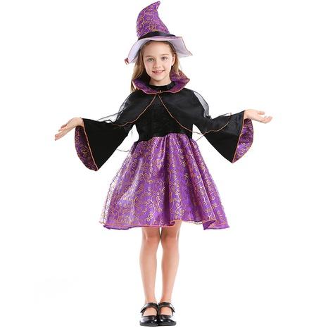 Halloween purple bronzing padded hat princess dress wholesale Nihaojewelry  NHFE410375's discount tags