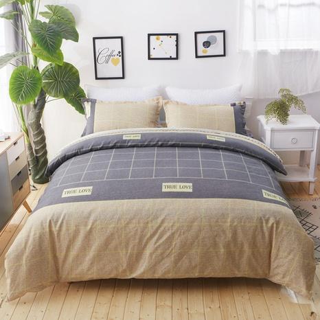Plaid Hit Color Printed Fashion Bettwäsche Set Großhandel Nihaojewelry NHDYJ410465's discount tags