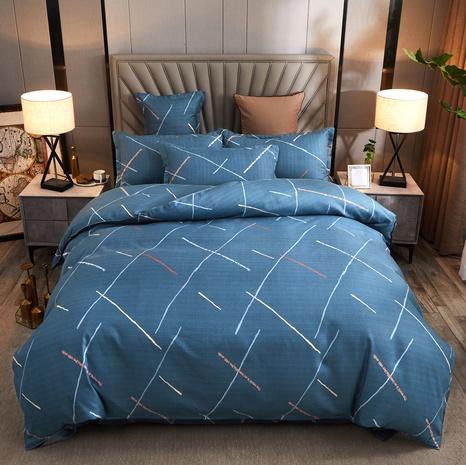 Line Printed Blue Fashion Bettwäsche-Set Großhandel Nihaojewelry NHDYJ410464's discount tags
