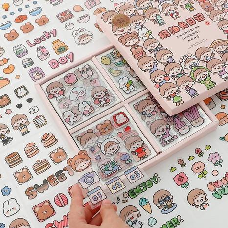 100 Butterkaninchen transparente wasserdichte Box Aufkleber Großhandel Nihaojewelry NHDW409885's discount tags