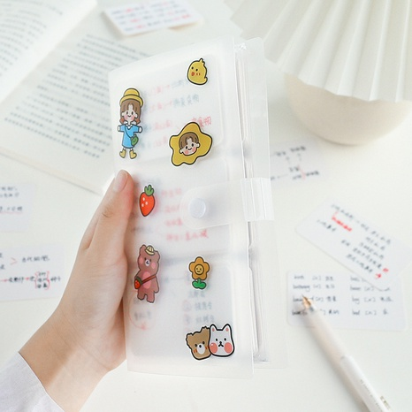 simple large-capacity transparent card ticket storage bag wholesale nihaojewelry NHZE409892's discount tags