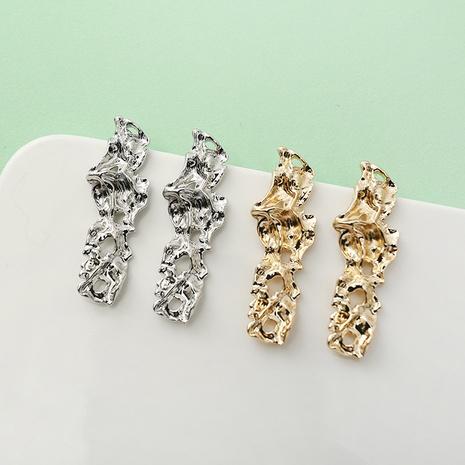 retro irregular hollow metal earrings wholesale Nihaojewelry NHQC412804's discount tags