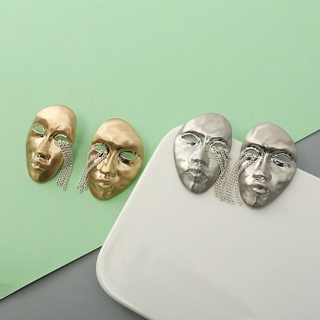 retro tears face tassel earrings wholesale Nihaojewelry NHQC412805's discount tags