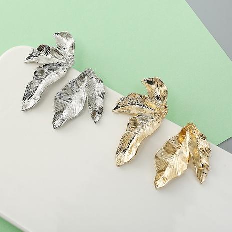 fashion asymmetrical leaf earrings wholesale Nihaojewelry NHQC412801's discount tags