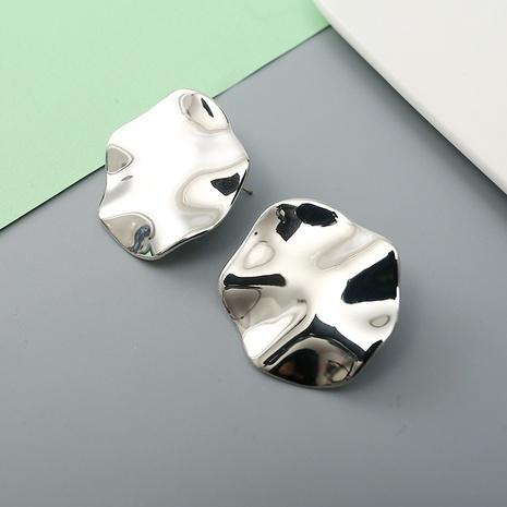 fashion glossy bumpy fold irregular earrings wholesale Nihaojewelry NHQC412799's discount tags
