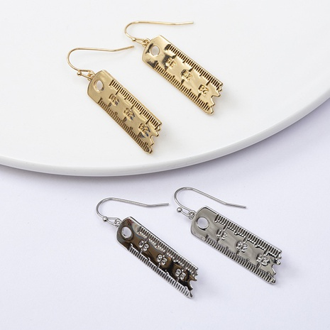 retro scale long earrings wholesale Nihaojewelry NHQC412809's discount tags
