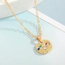 wholesale jewelry ethnic palm blue eye pendant necklace nihaojewelry  NHGO410553
