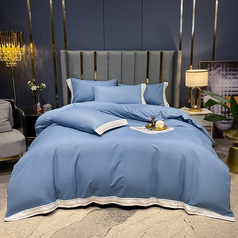 thick brushed hit color bedclothes set wholesale Nihaojewelry NHMAR411393's discount tags