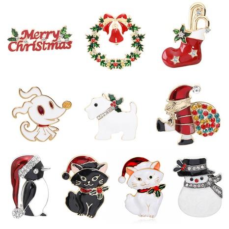 Al por mayor joyería árbol de navidad carta alce broche nihaojewelry NHMO410710's discount tags