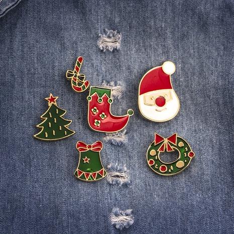 Joyería al por mayor árbol de Navidad guirnalda calcetines broche Nihaojewelry NHMO410711's discount tags