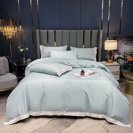 Hit color textured thick brushed bedclothes set wholesale Nihaojewelry NHMAR411392's discount tags