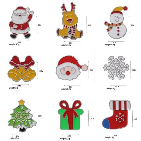 bisutería mayoreo de dibujos animados árbol de Navidad alce broche de Papá Noel nihaojewelry NHMO410729's discount tags