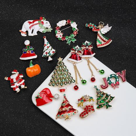 Al por mayor joyas árbol de navidad muñeco de nieve broche nihaojewelry NHMO410730's discount tags