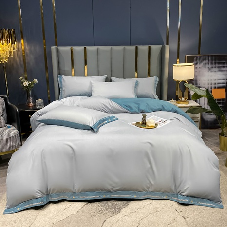 Textured light gray hit color brushed bedding set wholesale Nihaojewelry NHMAR411388's discount tags