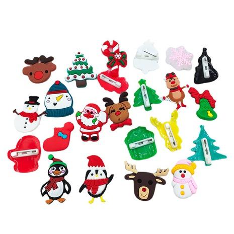 Al por mayor joyería de dibujos animados de Navidad muñeco de nieve alce broche nihaojewelry NHDI410844's discount tags