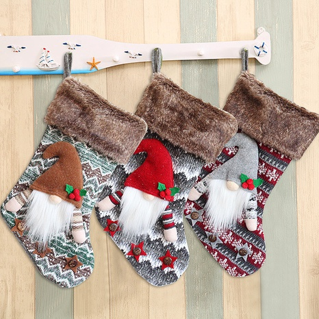 Christmas Plush Faceless Doll Candy Stocking Wholesale Nihaojewelry NHGAL411176's discount tags