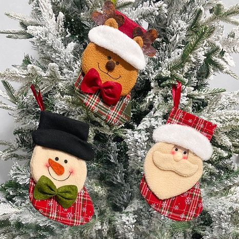 Christmas Santa Snowman Candy Gift Socks Bag Wholesale Nihaojewelry NHGAL411177's discount tags