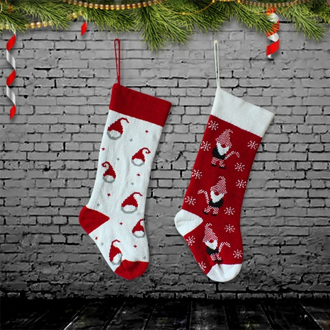 Christmas Knitted Stockings Tree Ornaments Wholesale Nihaojewelry NHGAL411179's discount tags