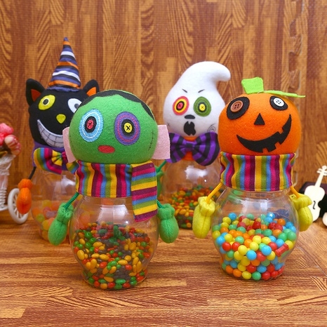 Halloween Pumpkin Black Cat Witch Candy Bottle Wholesale Nihaojewelry  NHGAL411178's discount tags