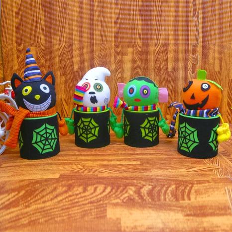 Creative Halloween Flax Spider Web Pumpkin Ghost Candy Jar Wholesale Nihaojewelry  NHGAL411182's discount tags