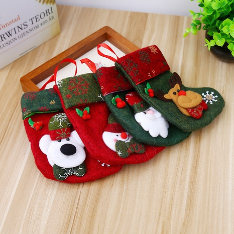 Christmas Snowflake Snowman Candy Bags Socks Wholesale Nihaojewelry NHGAL411240's discount tags