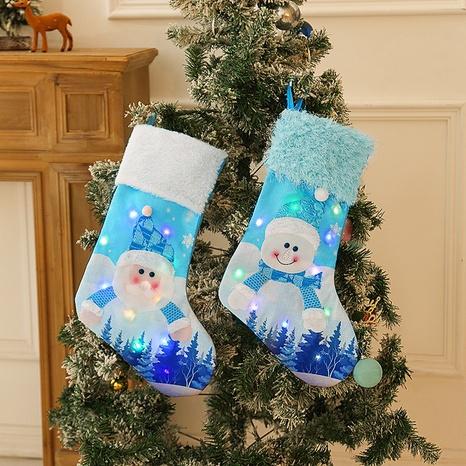 Christmas Blue Snowman Luminous Candy Bag Socks Wholesale Nihaojewelry NHGAL411242's discount tags