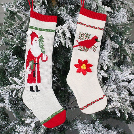 Christmas Knitted Candy Bag Socks Decorations Wholesale Nihaojewelry NHGAL411243's discount tags
