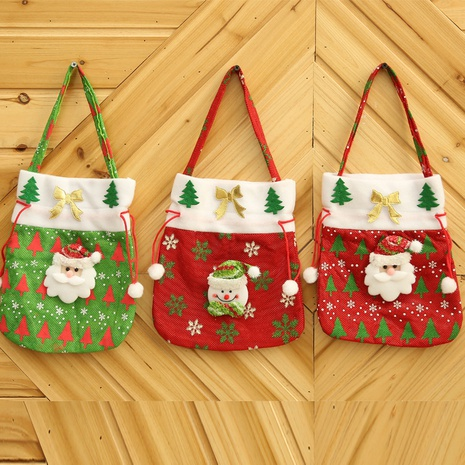 Christmas Fabric Red Gift Candy Bag Wholesale Nihaojewelry NHGAL411246's discount tags