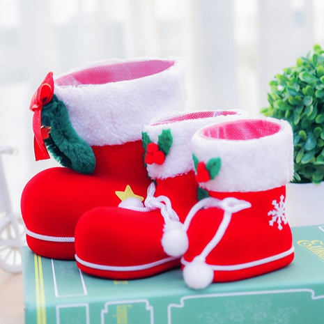 Christmas decorations flocking boots gift boots wholesale Nihaojewelry NHGAL411253's discount tags