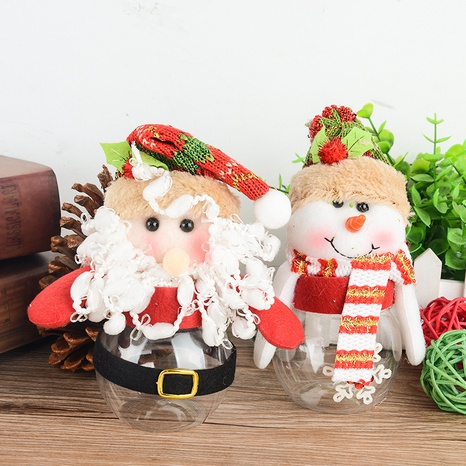 Santa Claus Transparent Plastic Candy Jar Wholesale Nihaojewelry NHGAL411254's discount tags