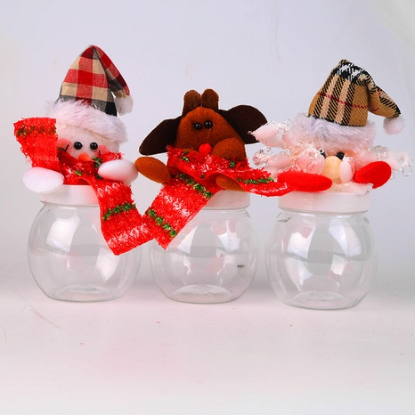 Christmas Santa Claus Transparent Plastic Candy Jar Wholesale Nihaojewelry NHGAL411255's discount tags