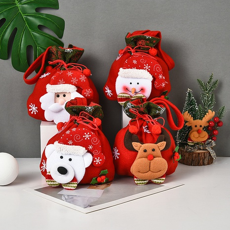 Christmas Three-dimensional Doll Candy Brushed Fabric Bag Decorations Wholesale Nihaojewelry NHGAL411257's discount tags