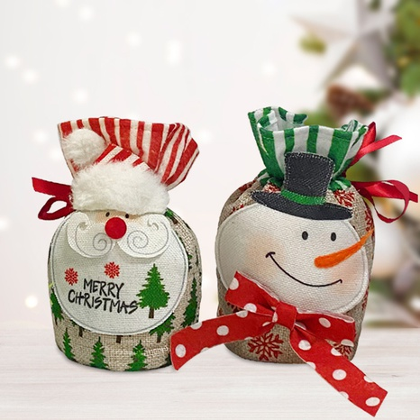 Christmas Santa Three-dimensional Gift Apple Bag Decoration Wholesale Nihaojewelry NHGAL411258's discount tags