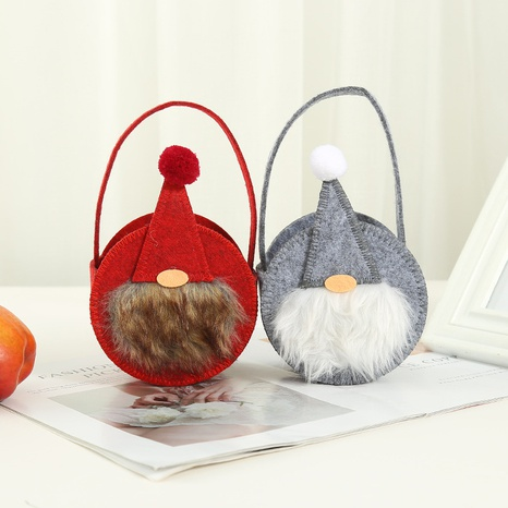 Christmas non-woven santa claus round tote candy decoration bag wholesale Nihaojewelry NHGAL411260's discount tags