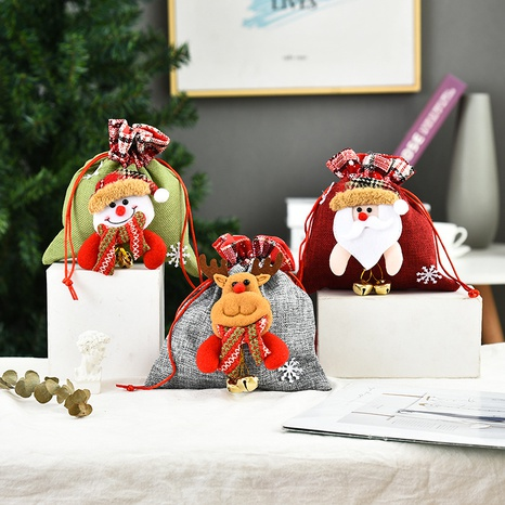 Christmas Three-dimensional Doll Candy Bag Wholesale Nihaojewelry NHGAL411261's discount tags