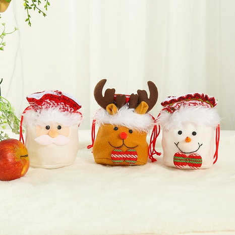 Christmas decorations diy flannel drawstring gift bag ornaments wholesale Nihaojewelry NHGAL411262's discount tags