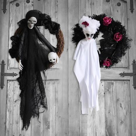 Halloween White Ghost Garland Door Hanging Wholesale Nihaojewelry  NHGAL411267's discount tags
