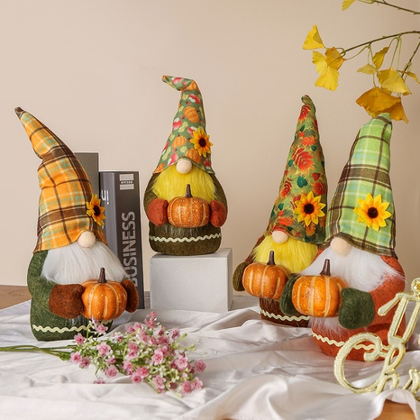 cute pumpkin faceless doll holiday ornaments wholesale Nihaojewelry  NHGAL411271's discount tags