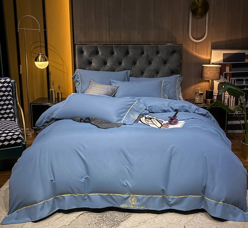Textured brushed embroidered bedclothes set wholesale Nihaojewelry NHMAR411385's discount tags