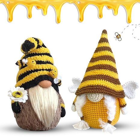 Bee Knitted Plush Doll Decoration Wholesale Nihaojewelry  NHGAL411270's discount tags