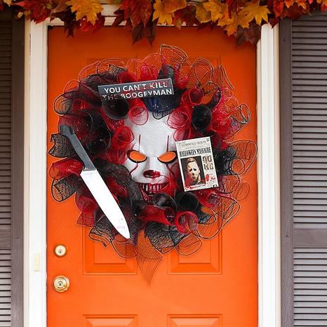 Halloween Mask Door Hanging Garland Decoration Wholesale Nihaojewelry NHGAL411437's discount tags