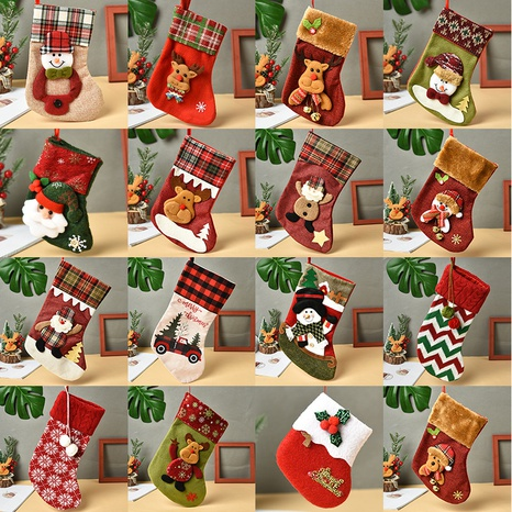vintage bear socks candy gift bags Christmas decoration wholesale nihaojewelry NHGAL411443's discount tags