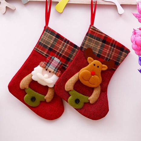 vintage Christmas decorations Santa Claus small socks gift bag wholesale nihaojewelry NHGAL411448's discount tags