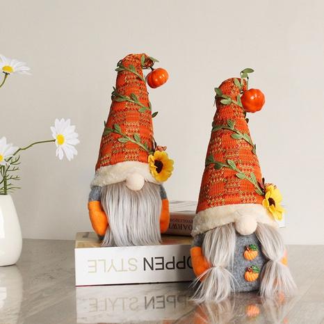 Halloween Pumpkin Sunflower Faceless Doll Ornaments Wholesale Nihaojewelry NHGAL411450's discount tags